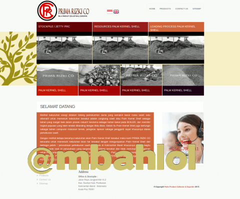 Website Prima Rizki Co Palm Product Collector & Exporter