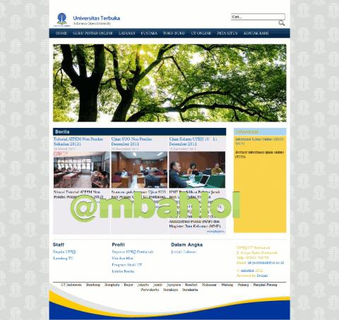 Website UPBJJ UT Pontianak