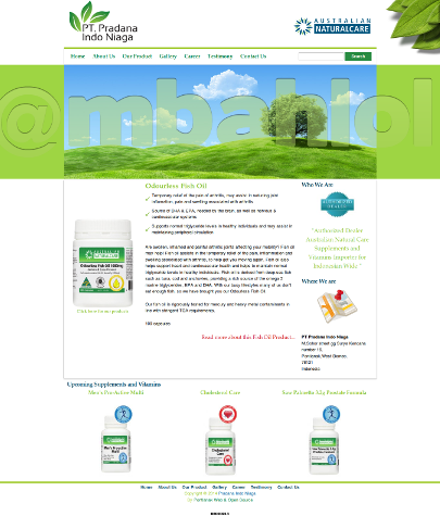 Website Pradana Indo Niaga Vitamins & Supplements Importer