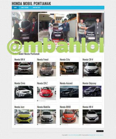 Website Sales Honda Pontianak