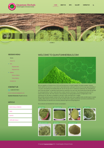 Website Kratom Supplier Pontianak
