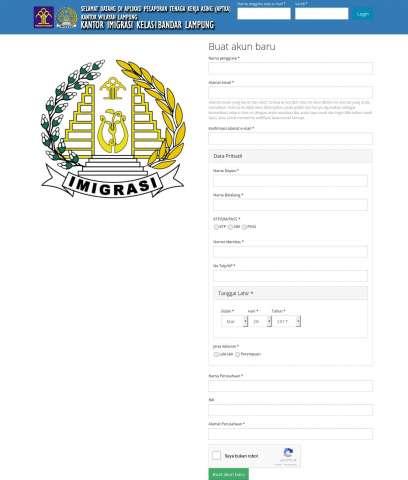 Website APTKA Imigrasi Bandar Lampung