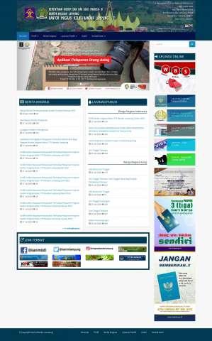 Website Imigrasi Bandar Lampung