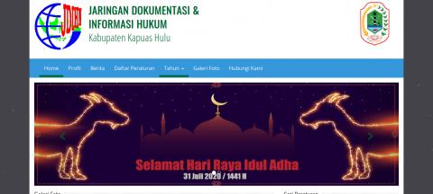 Website JDIH Kabupaten Kapuas Hulu